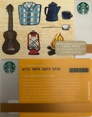 "2015 Starbucks ""camping"" Gift Card No Value Mint"
