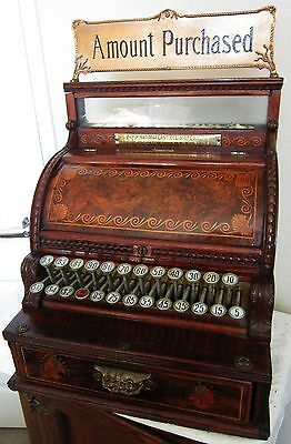 NCR Mahogany Register # 18  Circa 1880's