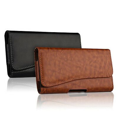 Horizontal Leather Case For Iphone 8 / 8 Plus Carrying Pouch Belt Clip Holster