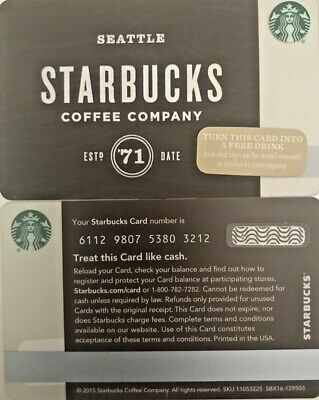"""2015 Starbucks """"wooden"""" Gift Card Limited Edition No Value Mint"""