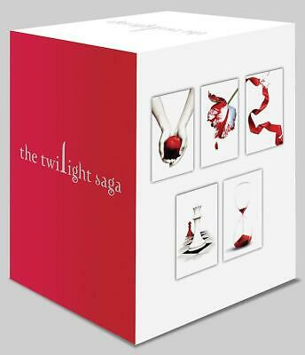Twilight Saga Series - 5 x Paperback Books in 1 x Boxed Set (White Cover) by Ste