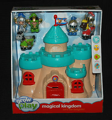 Grow & Play Magical Kingdom Knights & Castle / Fortress Playset 18+ Months BNIB