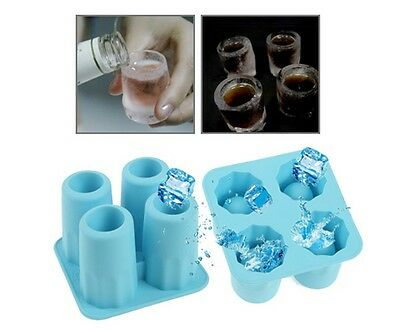 NEW ICE Cube SHOT GLASS Tray Mould Birthday ChristmasParty Drinking Fun Gift