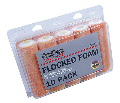 "ProDec Advance 10 Piece 4"" Inch Flock Foam Mini Rollers Gloss Paint (ARRE018)"