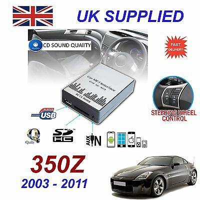 For Nissan 350Z MP3 SD USB CD AUX Input Audio Adapter Digital CD Changer Module