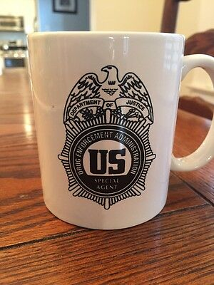 U.S. Department Of Justice DEA Special Agent Coffee Mug Novelty Both Sides Print