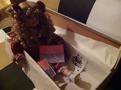 """New In Box William Tung 24"""" Tall Aimee Porcelain Doll~#1418/4000~With Coa!!!"""