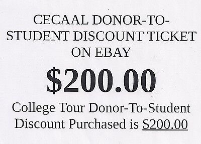 CECAAL $200.00 Donor-To-Student Trip Discount Coupon Ticket
