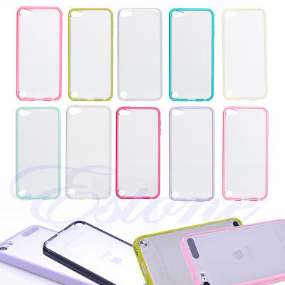 Hard Silicone Plain Matte Back Case Cover for Apple iPod Touch 5 Touch 6 Skin