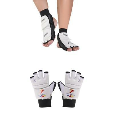 Taekwondo Gloves Karate Hand Protector Glove & Foot Guard Socks Sparring Gear M