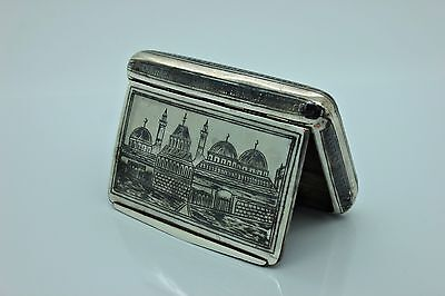 Antique Original Perfect Silver Niello Armenian Ottoman Van Amazing Cigar Case