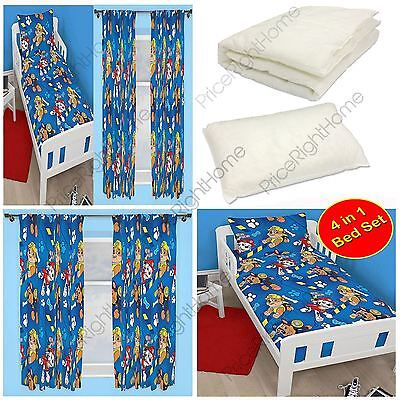 Paw Patrol Junior Bedroom Range Junior Duvet Cover & Curtains Available Kids New