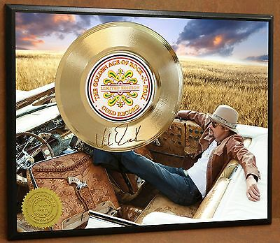 Kid Rock Limited Edition Signature Laser Etched Poster Art Gold Record Display