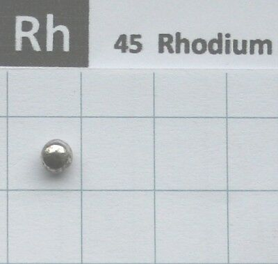 Lichtbogengeschmolzene Rhodium Metall 99,95% 0,56 gramm - Element 45