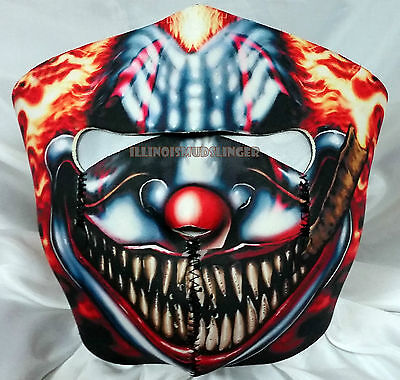 Smoking Scary Clown Motorcycle Biker Ski Snowmobile Neoprene Face Mask #1023