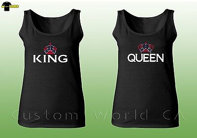 Couple Tank Top - King & Queen USA Matching Shirts - Couple Tee Tank His and Her