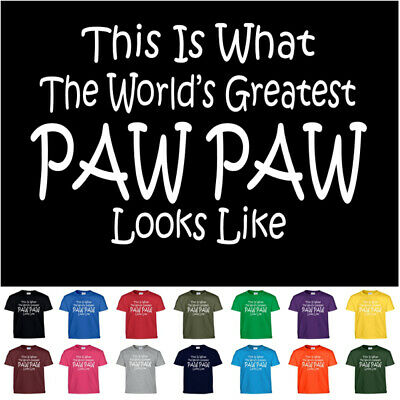 92c45269 Worlds Greatest PAW PAW Fathers Day Birthday Christmas Gift Funny Tee T  Shirt