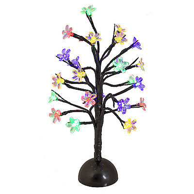 40cm Christmas Cherry Tree 24 Multi-Colour LED Lights Home Xmas Decoration Gift
