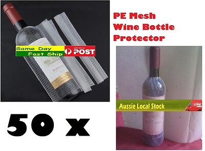 50x Bottle PE Mesh Cover Protect Protector for Red White Wine Beer Safe Storage