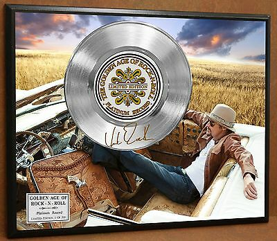 Kid Rock Limited Signature Laser Etched Platinum Record Poster Art Display