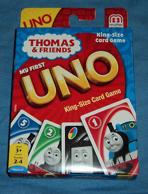 My First Uno King Size Card Game Thomas & Friends, The Tank Engine Train, New