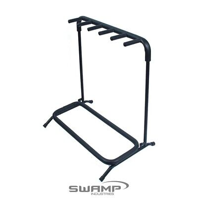 SWAMP Multi Guitar Stand - 5 Space - Folds flat for easy transport!