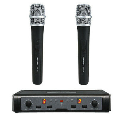 PASGAO PAW-266 Wireless Microphone System - 2 Handheld Vocal Mic