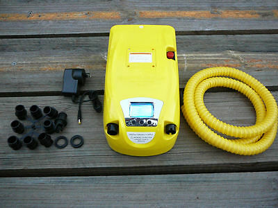 12V Electric Deluxe Air Pump. with Battery - Inflatable Boat, Kitesurfing, SUP