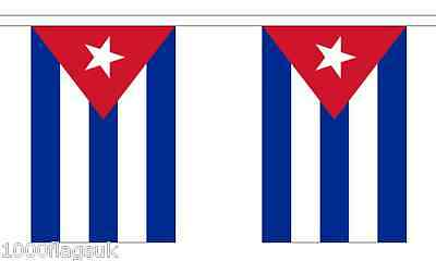 Cuba Polyester Flag Bunting - 3m long with 10 Flags