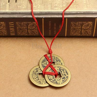 Good Lucky Chinese Coins I-Ching Feng Shui Coin Fortune Wealth Brass New Year