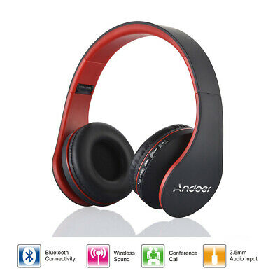 Wireless Stereo Bluetooth Headphone Headset with MP3 Player Micro SD/TF FM Radio