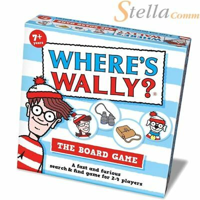 Where's Wally? The Board Game - Family Fun Fast Paced Eagle Eyes Waldo