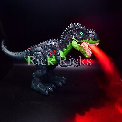 Light Up T-Rex Walking Dinosaur LED Toy Fire Breathing Mist Spray Dragon Sounds