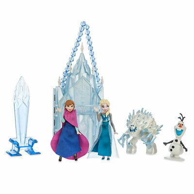 Disney Princess Frozen Elsa Anna Doll Mini Castle Playset Olaf marshmallow