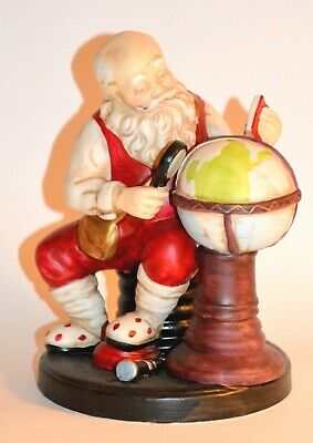 Norman Rockwell Santa Figure Christmas 8 Inch Tall Saturday Evening Post Bisque