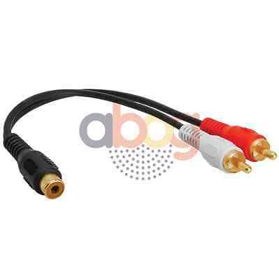 Audio Y Adapter 2 RCA Plugs to 1 RCA Jack Extension Splitter