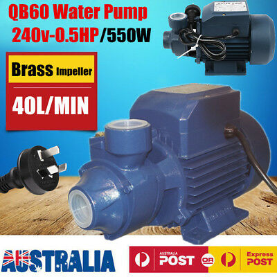 1/2HP/240V/550W Electric Motor Clean Water Pump Garden Rain Tank Irrigation QB60