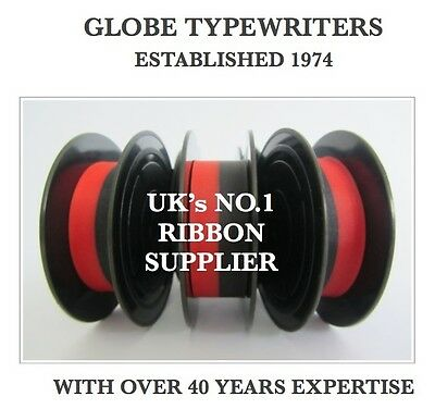 3 x IMPERIAL MERCURY *BLACK/RED* TOP QUALITY *10M* TYPEWRITER RIBBONS + EYELETS