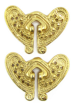 ACROSS THE PUDDLE 24k Gold Plated Pre-Columbian Filigree Butterfly Earrings