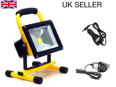 10w 20w 30w Outdoor LED Light Portable Rechargeable Work Floodlight Hi Power UK