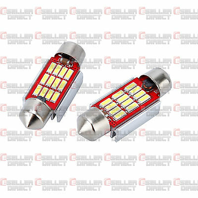 6K Pair Number Plate Bulbs Lights Led White Xenon Canbus Vauxhall Vectra 02-06