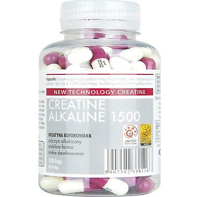 STRONG CREATINE ALKALINE - 1500mg Serving Buffered Monohydrate Capsules