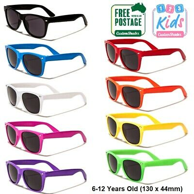 Kids / Childrens Sunglasses - Boys / Girls 6-12 Years- Retro Frame- Gloss Finish