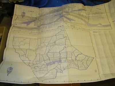 Large Vintage Lycoming County Pa Official Arrow City Map
