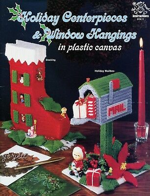 Holiday Centerpieces & Window Hangings plastic canvas patterns OOP rare