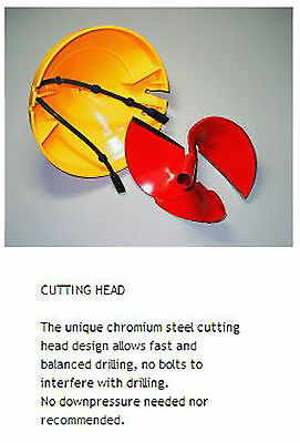 """Nils Master 6"""" Chromium Steel Red Replacement Cutting Head Urbl60"""