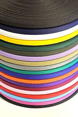 13mm Wide Webbing In 19 Colours Bags Straps Crafts Dog Leads x2 x5 x10 Metres