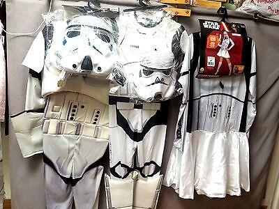 Star Wars Storm Trooper Men/woman & Child New Costume's Assorted Size's New
