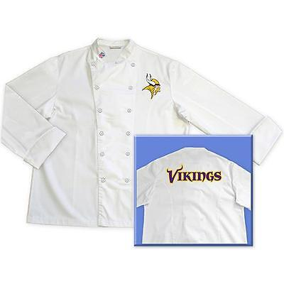 Minnesota Vikings NFL Chef Chefs Jacket Coat Tailgate BBQ Kitchen Cooking Gift