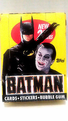 1989 New Topps Batman 36 Packs of Trading Cards/Stickers/Bubble Gum 2nd Series